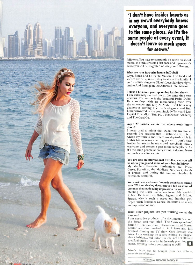 2015 04 30 - Hello! Middle East - Nina Zandnia (pages78)