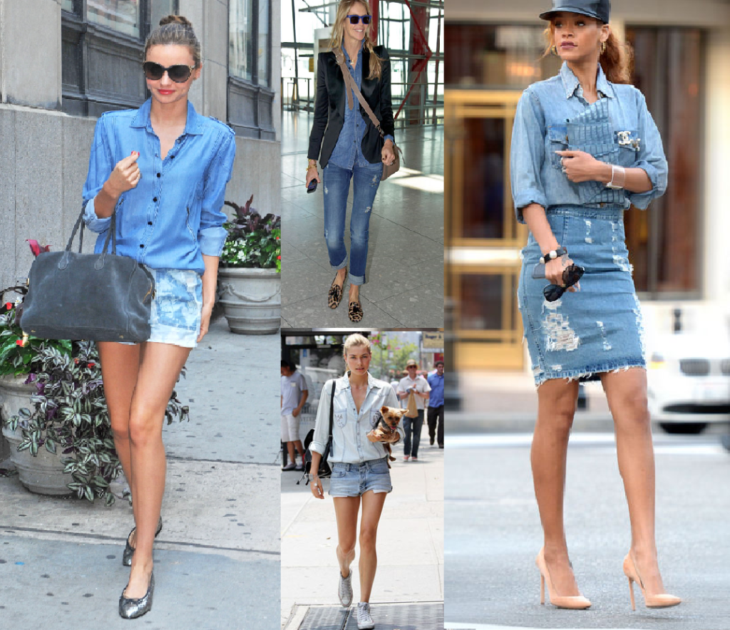 celebs do double denim